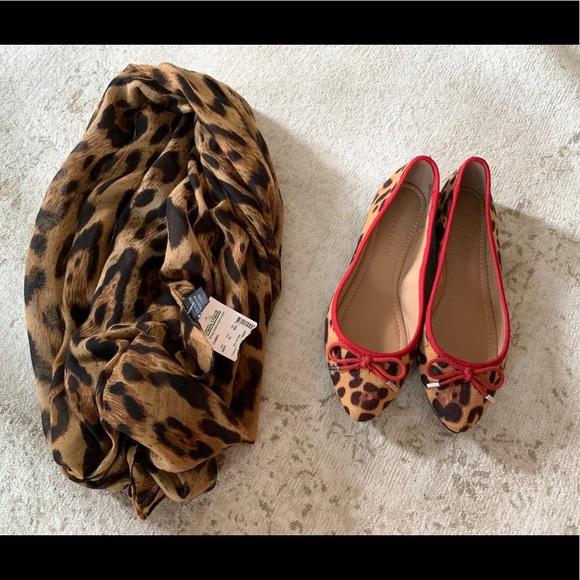 Zigi Soho Shoes - Zigisoho flats and scarf leopard print